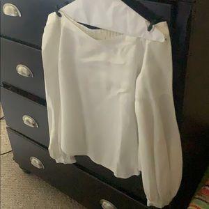 Anthropology white blouse